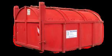 Afbeelding 10m3 Hout container gesloten